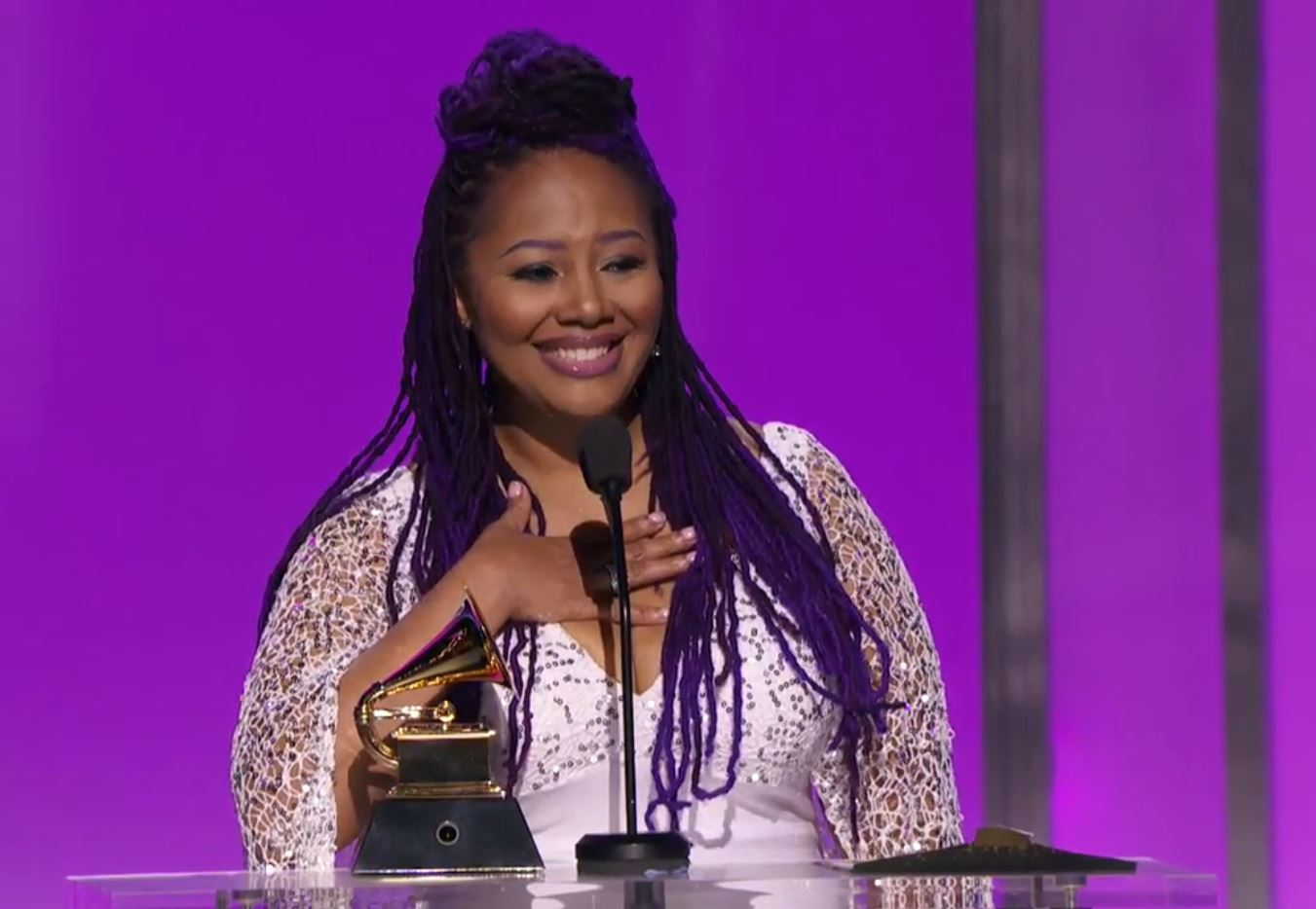 Lalah Hathaway 2016 Grammy Award acceptance speech -8 - Courtesy of ConnectingYOUto PR Firm