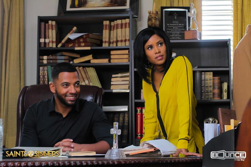 "Burke with co-star Christian Keyes who plays ""Miles"""