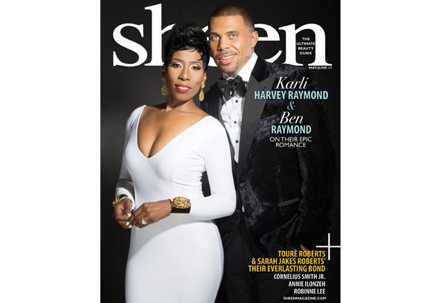 Dynamic Duo, Karli Harvey-Raymond and Ben Raymond Grace Double Cover of Sheen Magazine