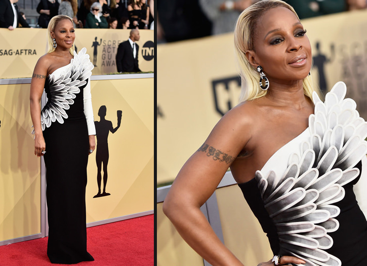 Get the Look: Mary J. Blige Wears Black Opal at the SAG Awards