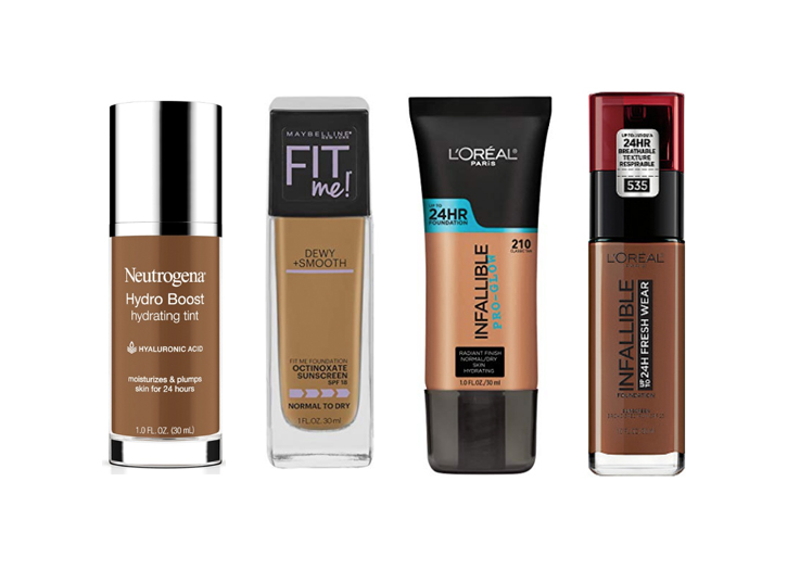 Four of the Best Drugstore Foundations Made for Dry Skin